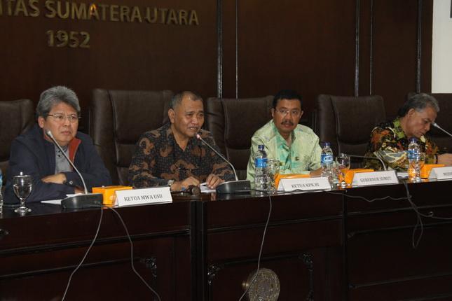 Dihadiri Gubernur Sumut, Ketua KPK Ceramah di USU