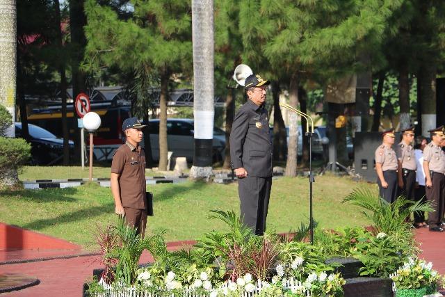 Jelang Pilkada Sumut, TNI/Polri dan FKPD Gelar Upacara Gabungan