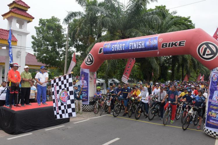 Deli Serdang Fun & Race MTB Criterium Diikuti Ribuan Peserta Fun Bike