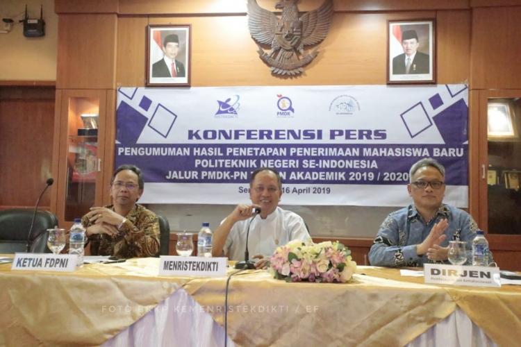 Dari 206.852 Peminat, 16.666 Siswa Dinyatakan Lulus Seleksi PMDK di 42 Politeknik Negeri