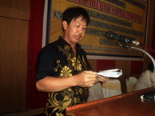 Dinilai Tak Berdasar, Fery Wijaya Ganti 70 Pengurus KONI Labuhanbatu