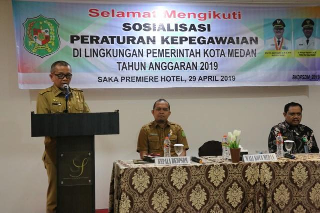 Walikota Medan Buka Sosialisasi Peraturan Kepegawaian di Lingkungan Pemko Medan