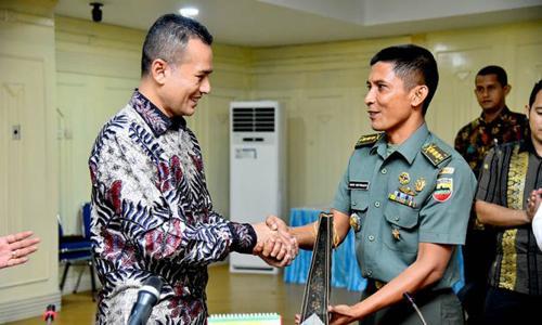 Berprestasi di Kejurnas Cup Bali, Pemprov Sumut Serahkan Tali Asih BAgi Atlet Yongmoodo