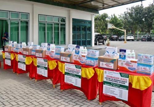 MITSU Beri Bantuan APD untuk Rumah Sakit di Sumut, Plt Wali Kota Medan Ucapkan Terima Kasih