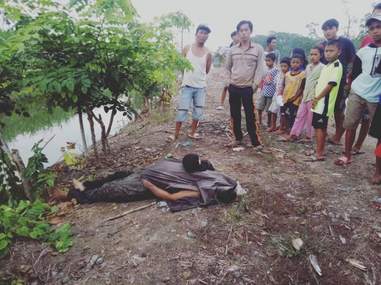Ditemukan Tewas Tenggelam, Mayat Pria Paruh Baya Dievakuasi Jajaran Polresta Deli Serdang