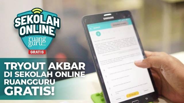 Ruangguru Adakan Tryout Akbar Sekolah Online di Rumah, Siswa Bisa dapat Hadiah