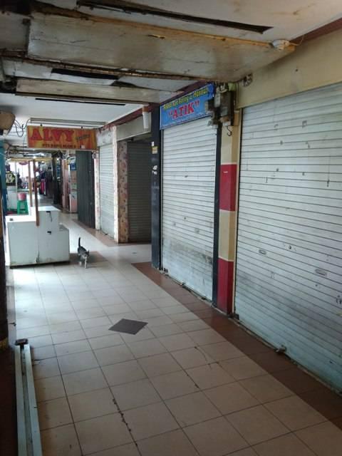 Pembeli Sepi, Pedagang Pasar Modern Petisah Medan Banyak yang Tutup