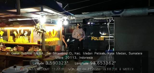 Polsek Medan Baru Konsisten Razia Warga Berkumpul di Cafe dan Warnet, Cegah Covid-19