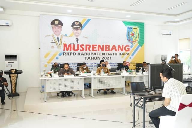 Gelar Musrembang dengan Teleconfrence, Ini 5 Prioritas Pembangunan di Kabupaten Batubara Tahun 2021