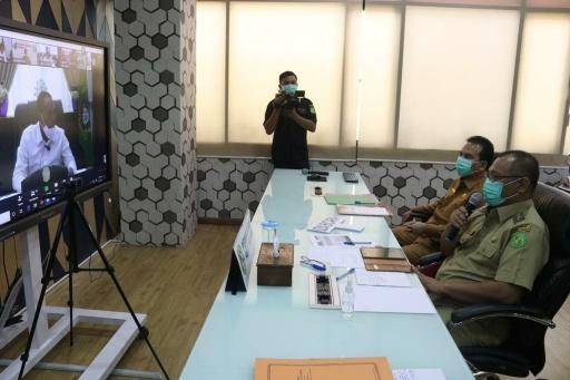 Pemko Medan Siapkan Pemakaman Khusus Covid-19, Gubernur Sumut Apresiasi via Video Conference