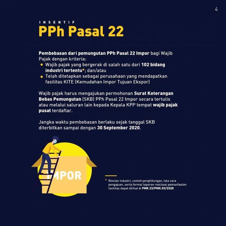 Percepat Penanganan Covid-19, Pemerintah Berikan Insentif PPN dan PPh April-September 2020