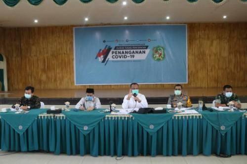 Akhyar Nasution Pimpin Rapat Evaluasi Tim Gugus Tugas Percepatan Penanganan Covid-19