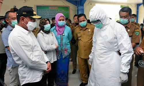 Tinjau RSUD Padangsidimpuan, Edy Rahmayadi Segera Penuhi Kebutuhan Medis Penanganan Covid-19