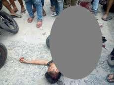 Pelaku Jambret Tewas Ditabrak Truk di Jalan Cemara Medan
