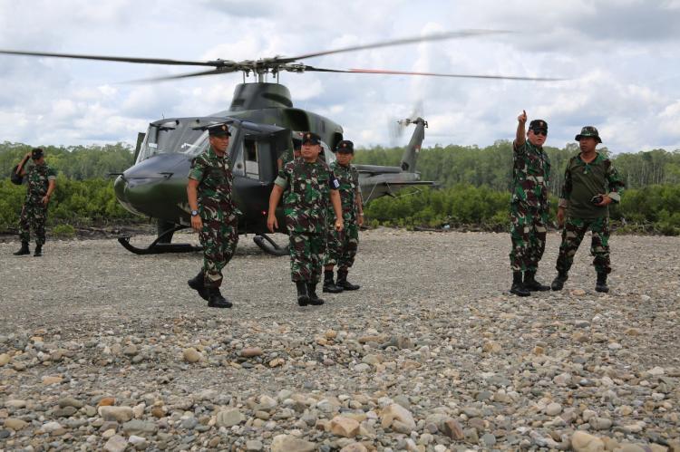 Asops Panglima TNI Tinjau Lokasi Latihan PPRC TNI 2018 di Timika
