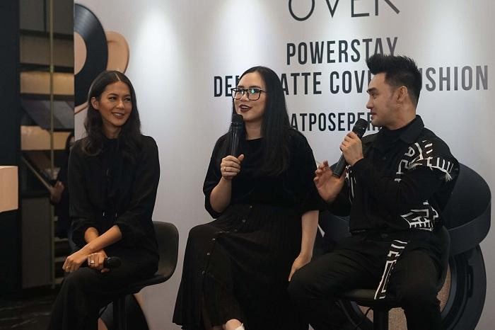 Make Over Undang Paula Verhoeven dan Dhirman Putra di Launching Powerstay Demi Matte Cover Cushion