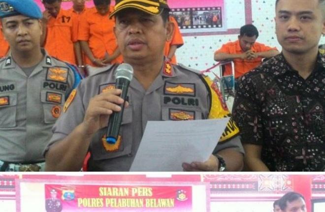 Polres Pelabuhan Belawan Ungkap Tindak Pidana Kejahatan dari Mulai Prostitusi Online Hingga Pencurian