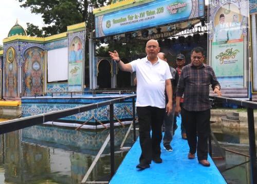 Walikota Medan Tinjau Lokasi Ramadhan Fair