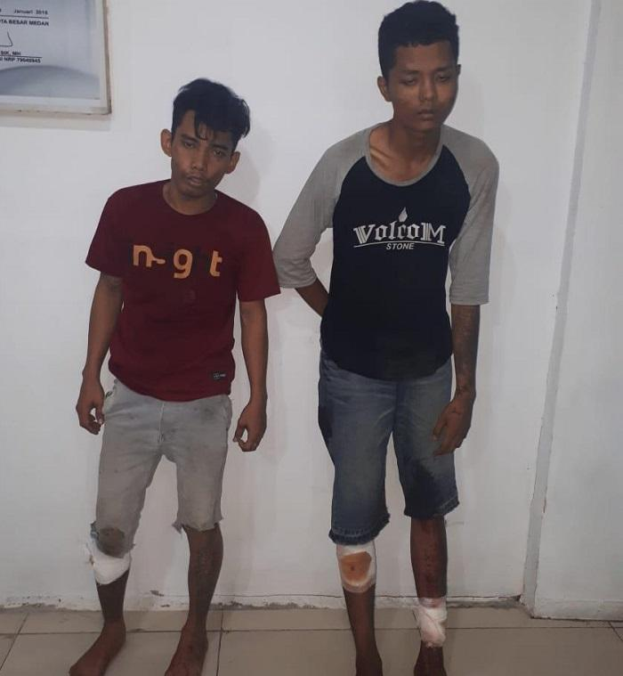 Pelaku Curanmor di Kawasan Jalan HM Joni Medan Ditembak Polrestabes Medan