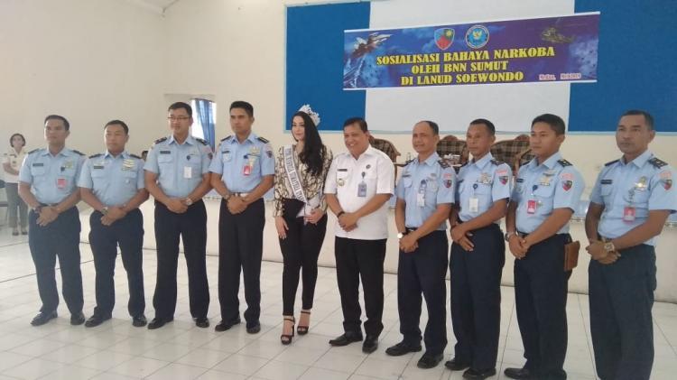 BNNP Sumut Berikan Pemahaman Bahaya Narkoba di Lanud Soewondo Medan