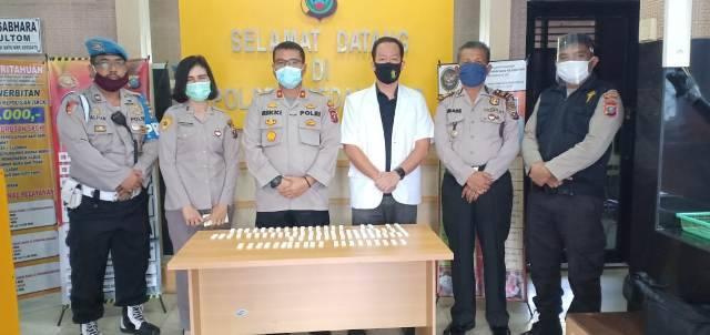 Cegah Covid-2019, Personel Polsek Medan Kota Jalani Rapid Test