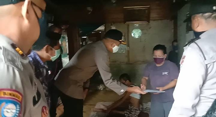 Polsek Percut Sei Tuan Gulirkan Sembako dan Biaya Berobat untuk Warga Kurang Mampu