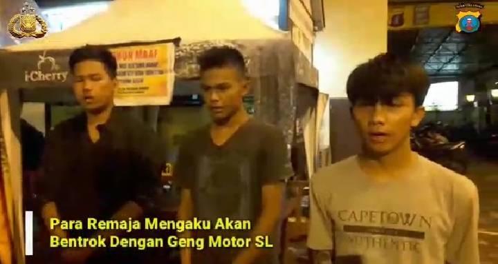 Geng Motor RNR Meresahkan Warga, 9 Remaja Ditangkap Polsek Medan Baru