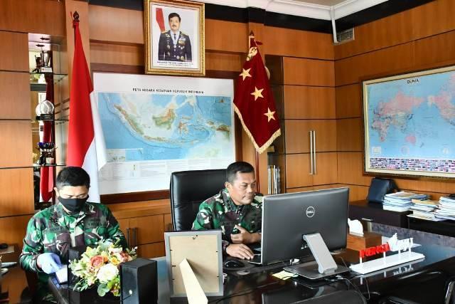 Dari Markas TNI, Kasum TNI Joni Supriyanto Buka RAT Koperasi Pusat Yudha Dharma Utama
