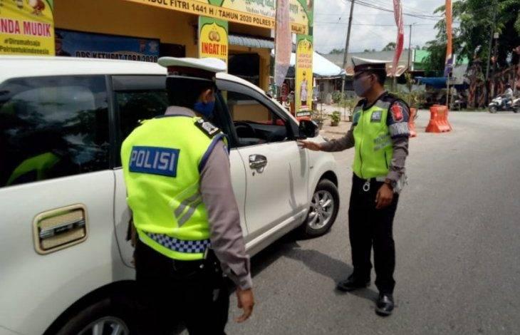 Periksa Kendaraan Pemudik, Polres Tanjung Balai Libatkan Unsur Pemerintah, TNI dan Satpol PP