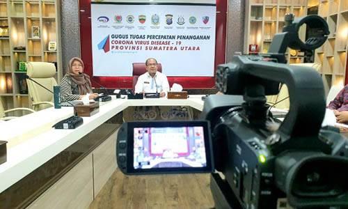 Percepat Persiapan New Normal, Pemprov Sumut Perkuat Koordinasi dengan Diskominfo Kabupaten/Kota