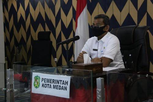 Kaji Soal DTKS, Sekda Rapat Virtual dengan Kepala BPJS Kesehatan Kota Medan
