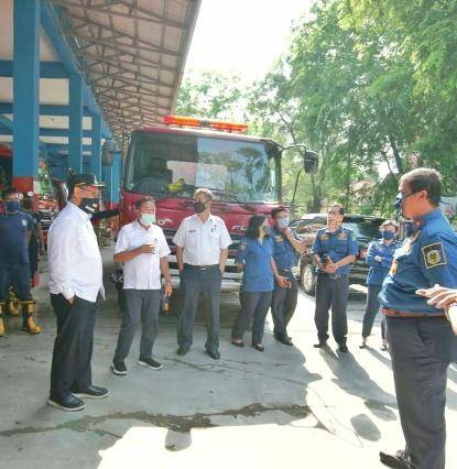 Plt Wali Kota Medan Apresiasi Dinas P2K Padamkan Api Kapal Tanker Jag Leela