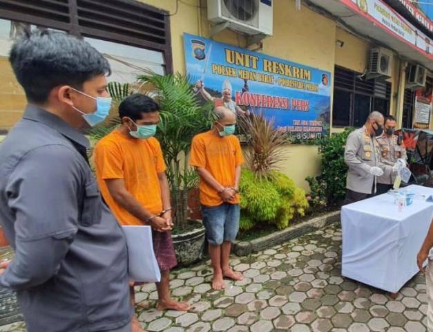 Komplotan Pencuri Pagar Besi di Lapangan Merdeka Dibekuk Polsek Medan Barat