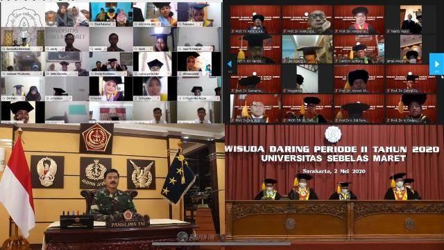 Wisuda Daring UNS, Panglima TNI Pesankan Seluruh Elemen Bangsa Harus Bersatu dalam Penanganan Covid-19