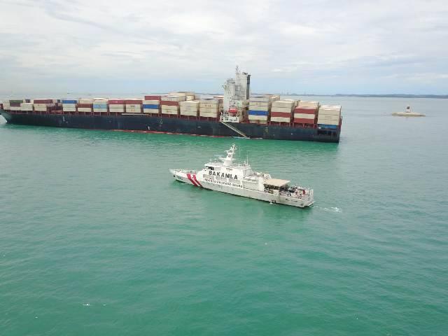 Kapal Tanker Berbendera Iran Kandas di Batam, Bakamla RI Bantu Terjunkan KN Belut Laut-406
