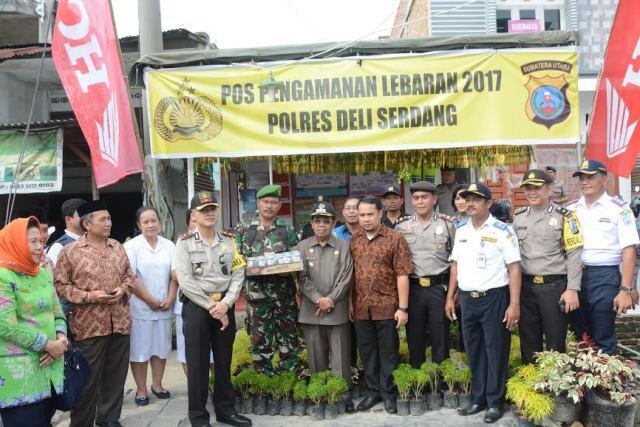 Wabup Bersama FKPD dan SKPD Deli Serdang Tinjau Kesiapan Pos Pam Ops Ramadniya Toba 2017