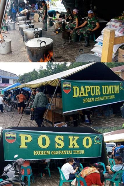 Korem 022/PT dan Dinsos Siapkan Dapur Umum dan Posko Penampungan Keluarga Korban Kapal Tenggelam di Danau Toba