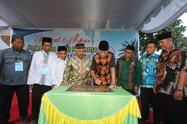 Resmikan Pembangunan Masjid Darussalam, Musa Rajekshah Ajak Umat Islam Makmurkan Masjid