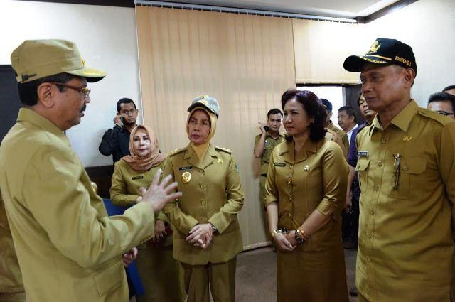 Hari Pertama Kerja, Gubsu Sidak ke Kantor SKPD