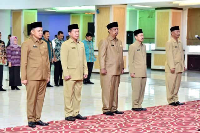 Lima Pejabat Eselon II Pemprosvu Dilantik Pj Gubernur Sumut