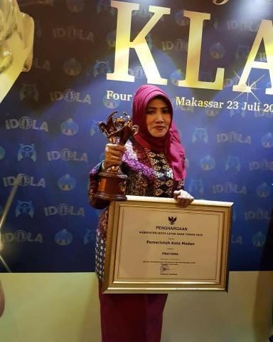 Kota Medan Kembali Mendapatkan Penghargaan Kota Layak Anak 2019 Kategori Pratama