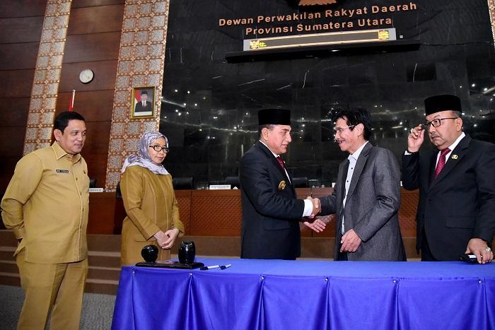 LPJP APBD 2018 Sumut Disetujui, Gubernur Apresiasi Kerjasama Anggota Dewan