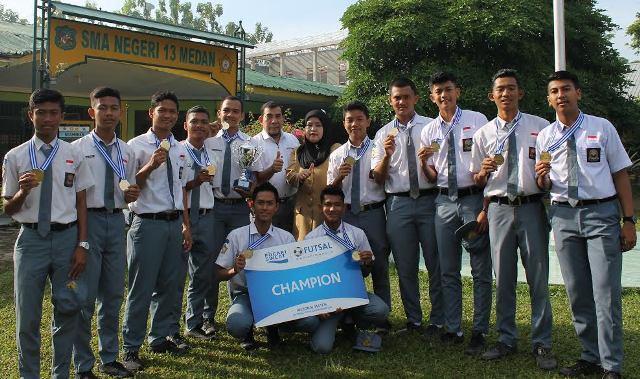 Tim Futsal SMAN 13 Medan Incar Piala Kemenpora