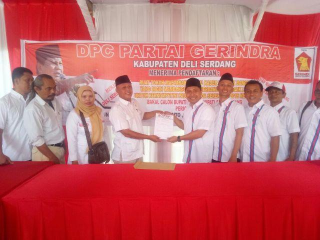 Balon Bupati Deli Serdang Sofyan Nasution Daftar ke Partai Gerindra
