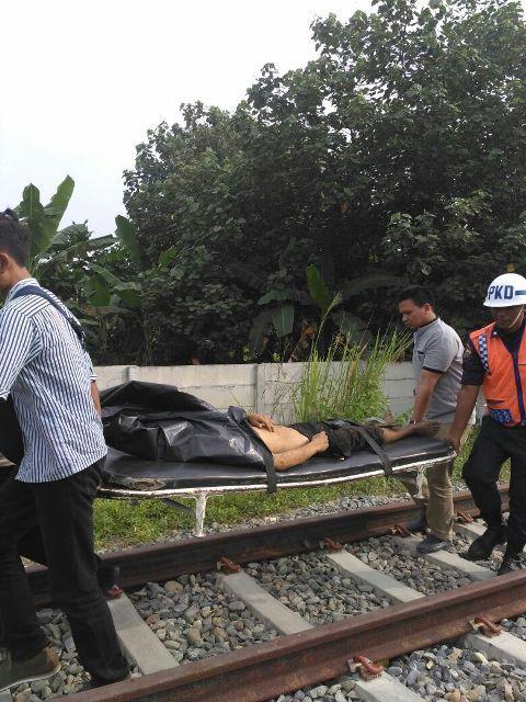Pria Berambut Keriting Tanpa Identitas Tewas Dilindas Kereta Api di Batangkuis
