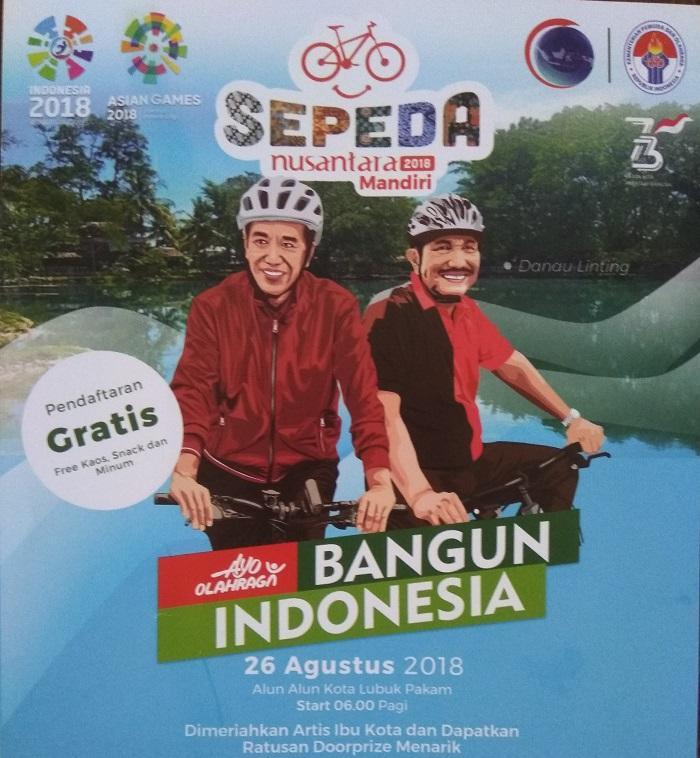 Sepeda Nusantara Mandiri 2018 Digelar di Lubuk Pakam