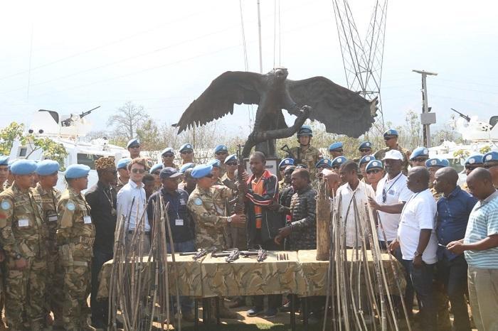 Tim Operasi Jaring Laba-Laba Terima Penyerahan Senjata di Republik Demokratik Kongo
