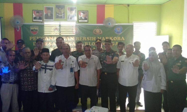 Kodim 0208/AS Kerjasama dengan Pemkab Asahan Laksanakan Pencanangan Desa Bersih Narkoba