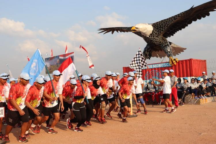 Satgas TNI Konga RDB Meriahkan Perayaan Kemerdekaan RI