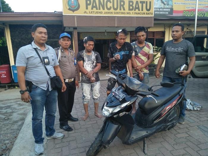 Polsek Pancurbatu Tangkap Tiga Komplotan Curanmor di Jamin Ginting